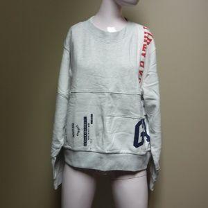 GAP Athletic White/Gray Sweatshirt Size XL